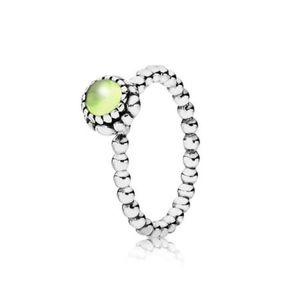 Pandora Birthday Blooms Peridot Ring